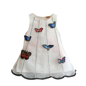 Butterfly White Dress