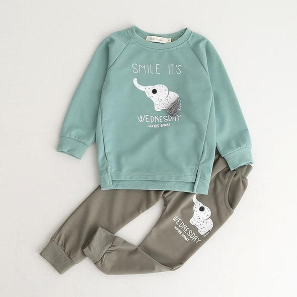 2-Piece Autumn Sweatshirt and Pants Set