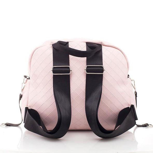 Fashionable Plaid Pink Diaper Bag