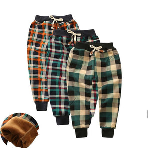 Plaid Thick Winter Pants