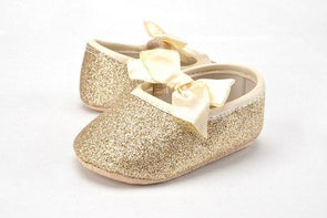Bow Sequin Soft Sole Shoes