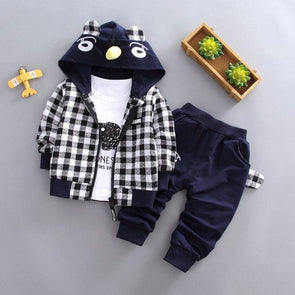 3-Piece Jacket, T-Shirt and Pants Set