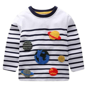 100% Cotton Fille T-shirt Planets