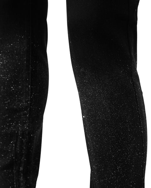 Jett Black Sparkled Denim