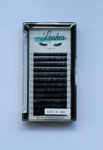 Classic Eyelash Extensions D-Curl  0.2 thickness - Mix Tray
