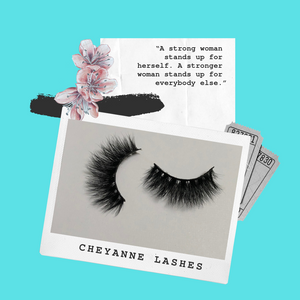 'Cheyanne' -  3D Mink Lashes (False Eyelashes)