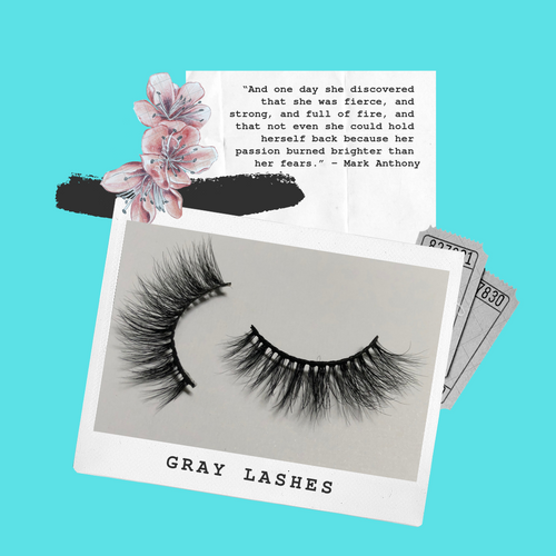 'Gray' -  3D Mink Lashes (False Eyelashes)