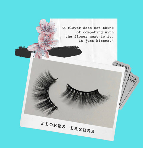 'Flores' -  3D Mink Lashes (False Eyelashes)