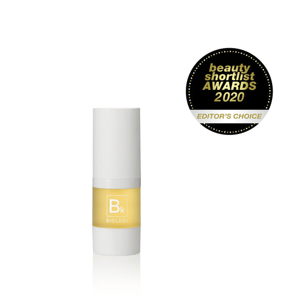 Award winning Biologi Serum Bk Rejuvenation Serum 15ml White Bottle.