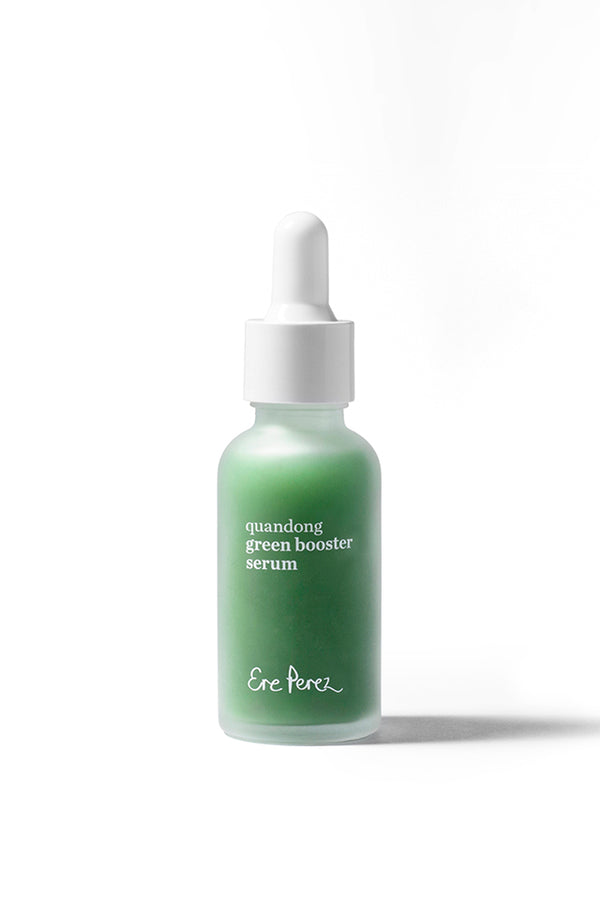 Ere Perez Quandong Green Booster Serum in glass bottle.
