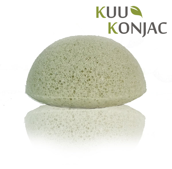 Kuu Konjac French Green Clay Konjac Sponge without box.
