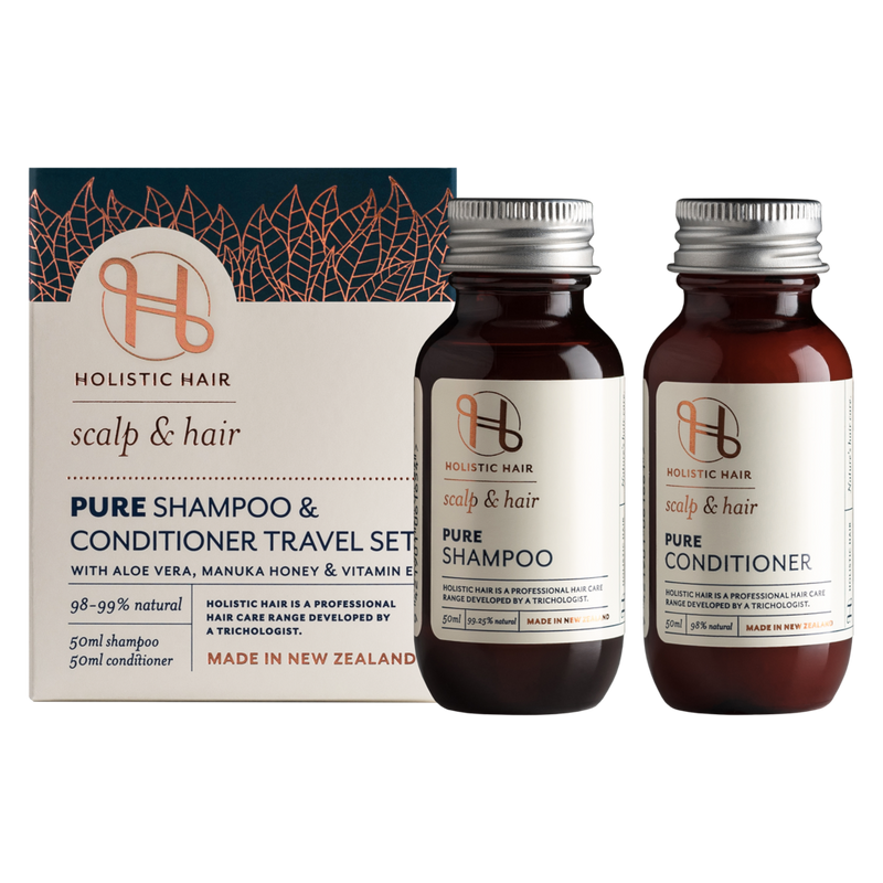 Holistic Hair Pure Shampoo and Conditioner Travel  Set 2x 50ml bottles.