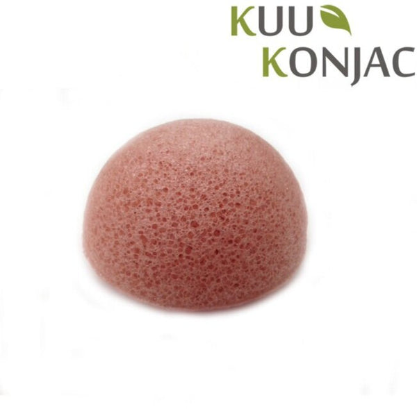 Kuu Konjac French Pink Clay Konjac Sponge unboxed.