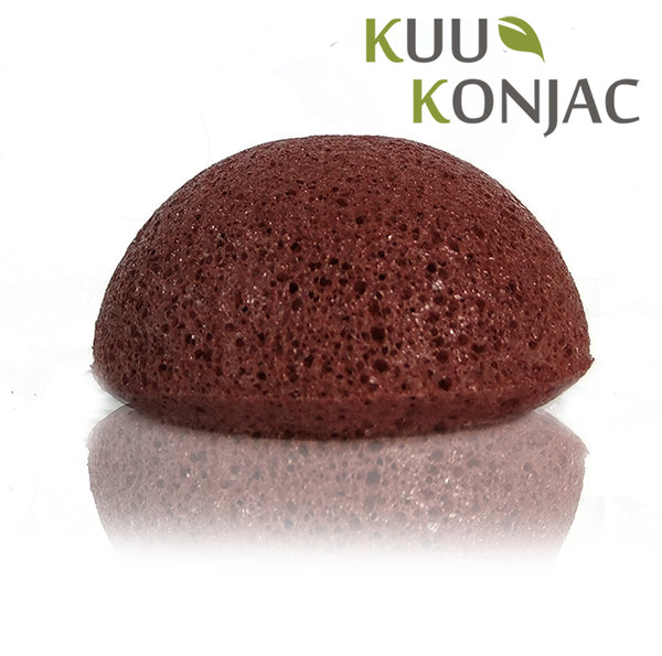 Kuu Konjac French Red Clay Konjac Sponge unboxed.