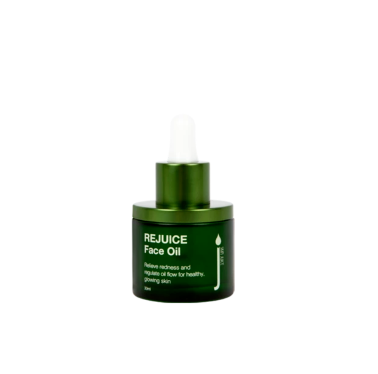 Skin Juice Re Juice Face Oil 30ml in green glass bottle.