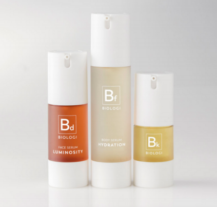 Biologi Serum Save My Skin Bundle Full Size bottles, Bd, Bf, Bk.