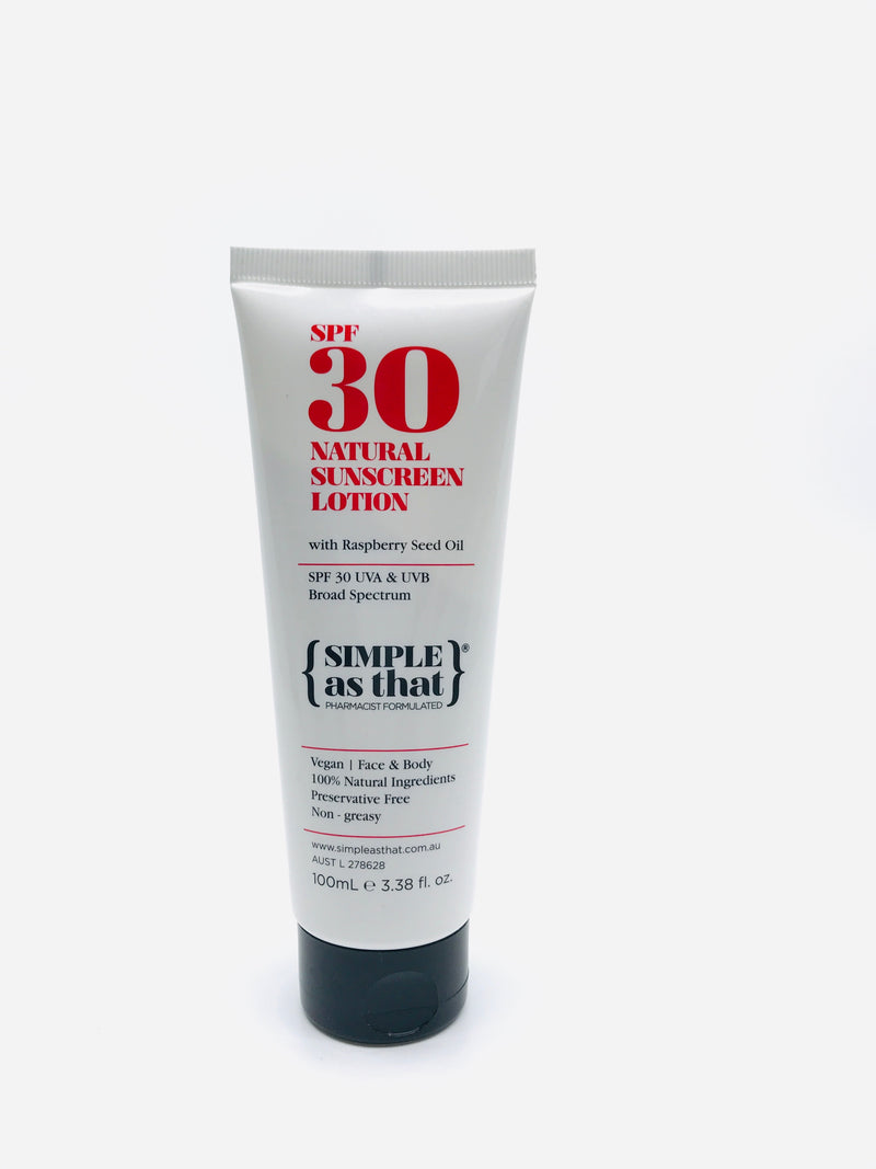 {Simple As That} Natural Sunscreen Lotion 100ml tube
