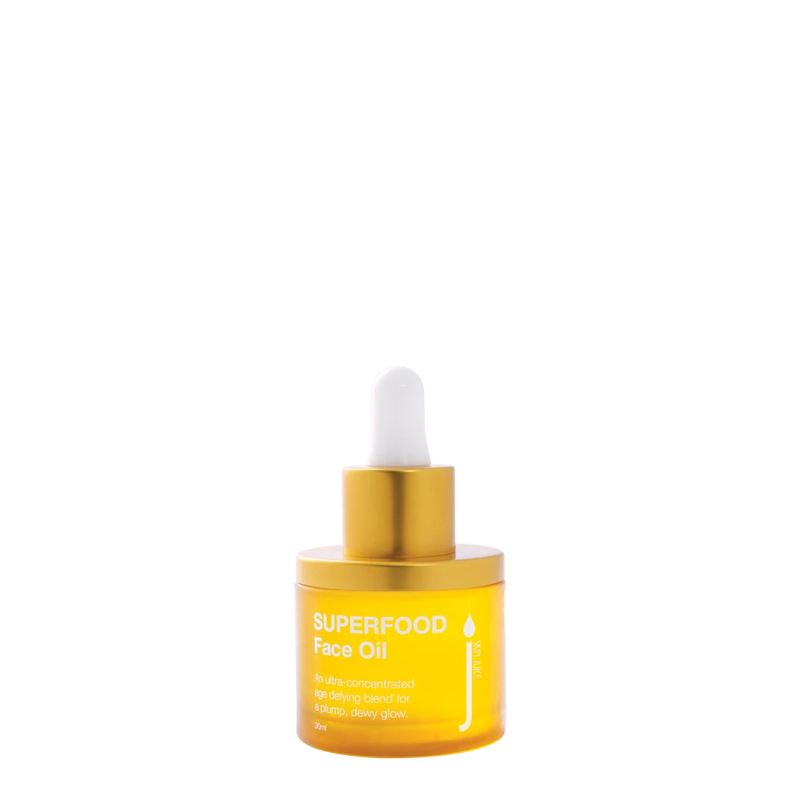 Skin Juice Superfood Face Oil 30ml in glass bottle.