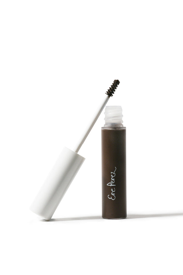 Ere Perez Argan Brow Hero tube opened with lid and brush showing.