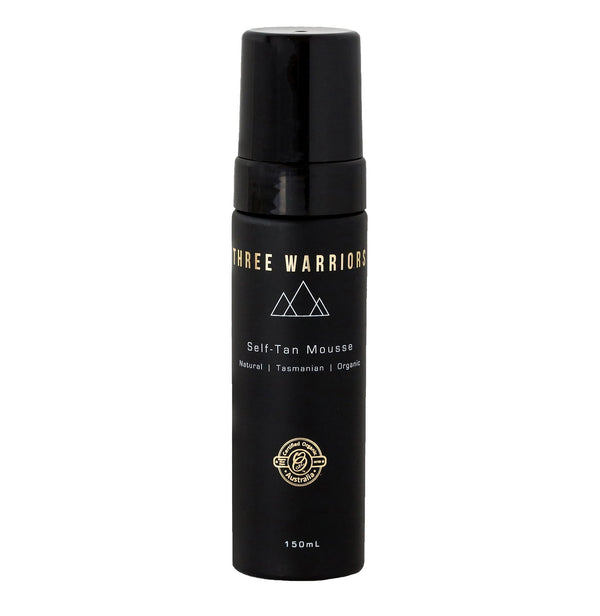 Three Warriors Self-Tan Mousse 150ml bottle.