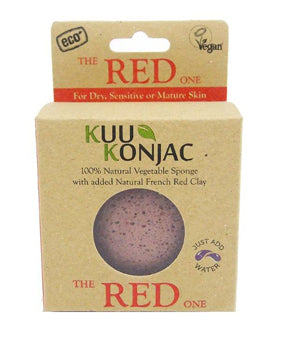Kuu Konjac French Red Clay Konjac Sponge boxed.