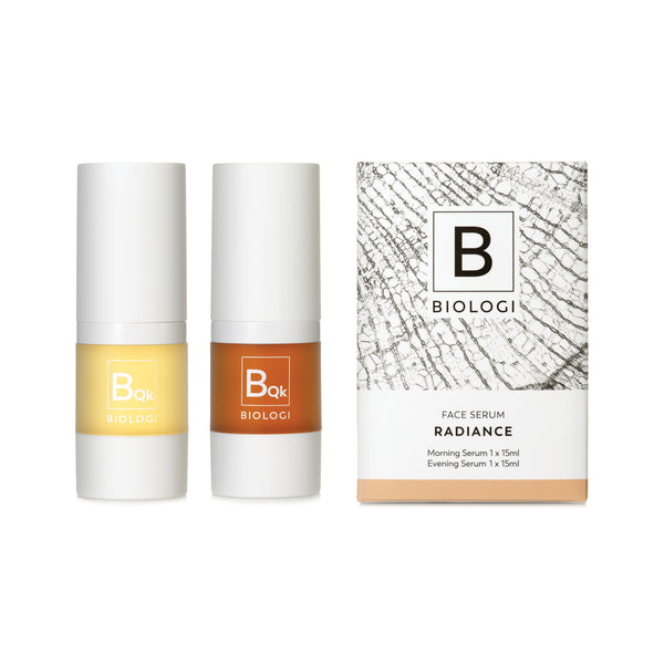 Biologi Serum Bqk Radiance Face Serums beside box.