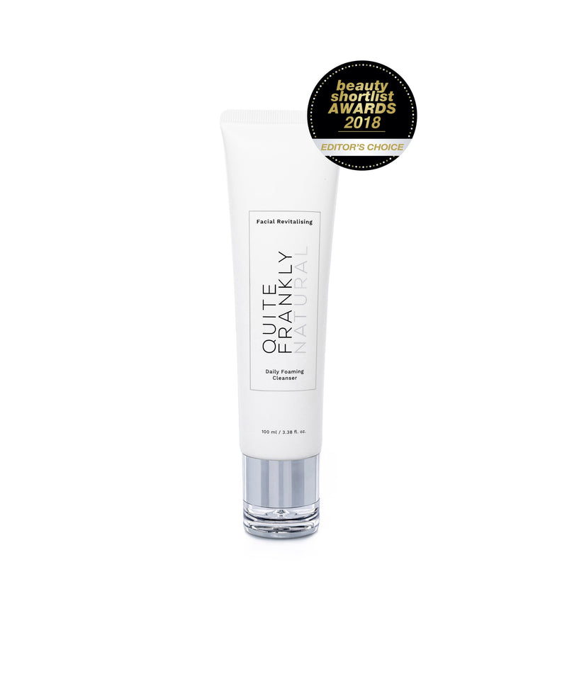 Quite Frankly Natural Facial Revitalising Daily Foaming Cleanser tube.