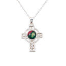 Heathergem Celtic Cross Silver Pendant