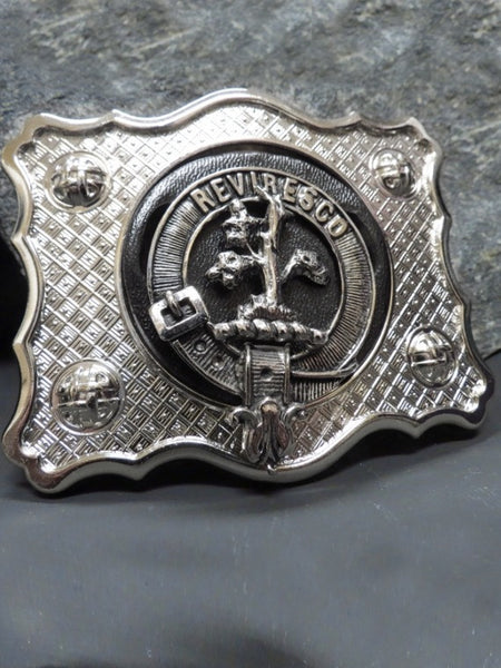 Clan Crested Kilt Buckle