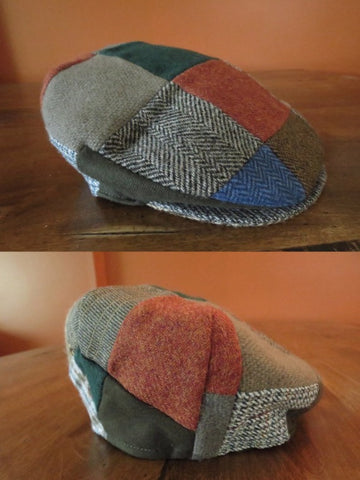 Donegal Tweed Vintage Patchwork Cap