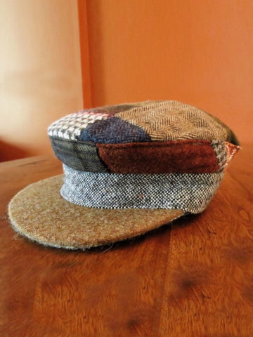 Donegal Tweed Patchwork Skipper Hat