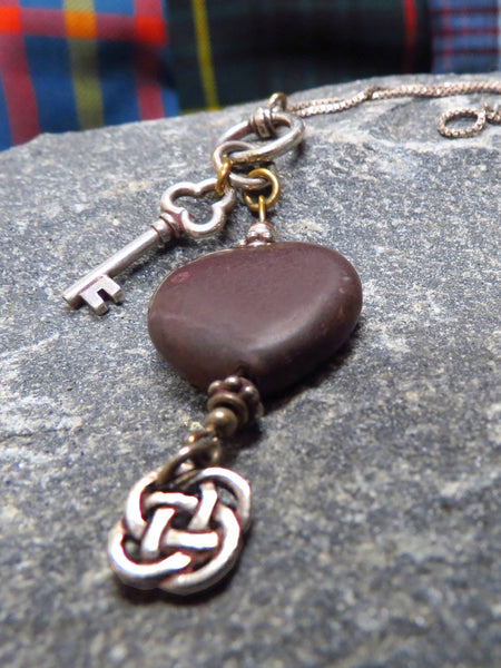 Hearts of Ireland Pendant - Black / Kilkenny