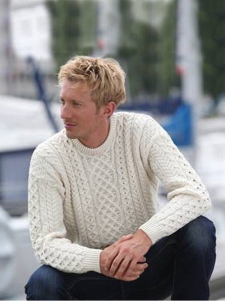 Crew Neck Aran Sweater