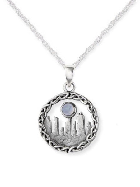 Outlander Inspired Standing Stones Pendant with Moonstone