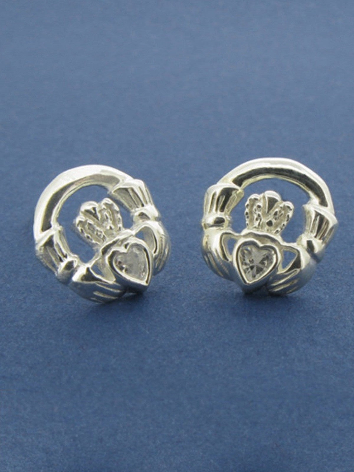 band gold silver sale stud gents irish claddagh