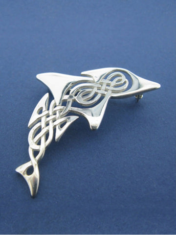 Celtic Dolphin Brooch
