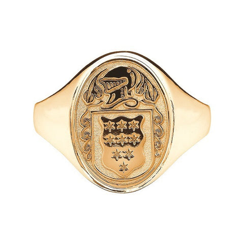 Ladies Irish Coat of Arms Ring