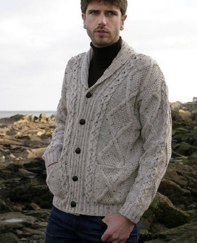 Aran Button Cardigan