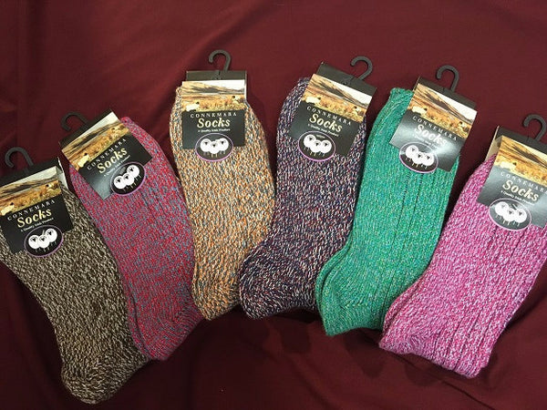 Connemara Heather Wool Socks
