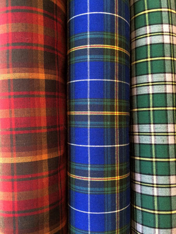 Poly-cotton Tartan Fabric