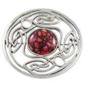 Heathergem Celtic Weave Brooch
