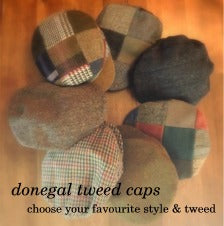 Hang on to your hat!  New Donegal Tweed Caps & Hats at The Plaid Place