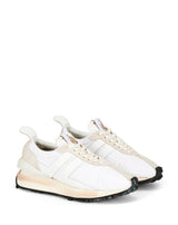 WHITE NYLON BUMPR SNEAKERS