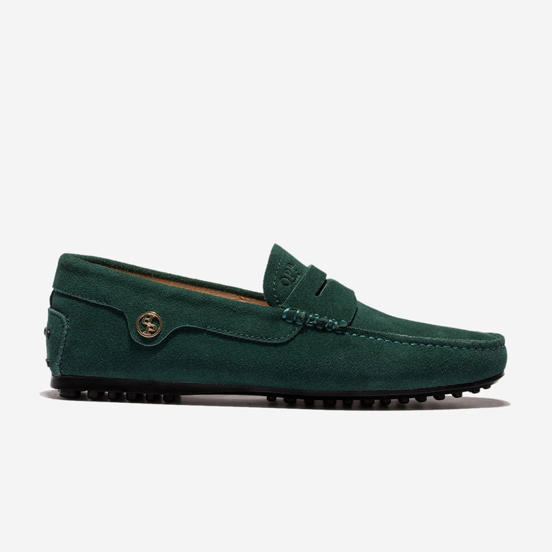 BRUSHED DRIVING SHOES DARK GREEN - Top driving Shoes - OPP Official Store (OPP France)