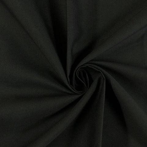 Black Plain Cotton Matka Fabric