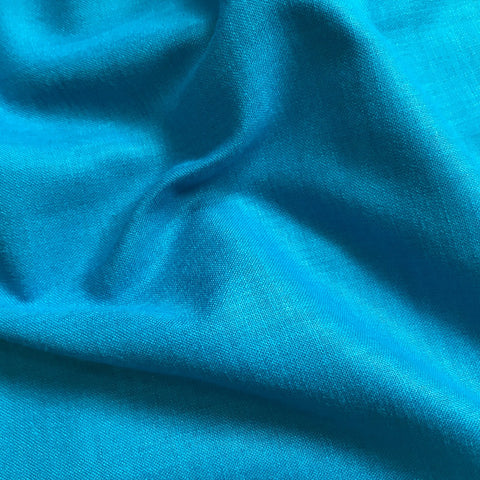 Firozi Blue Plain Cotton Matka Fabric
