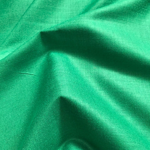 Emerald Green Plain Cotton Matka Fabric