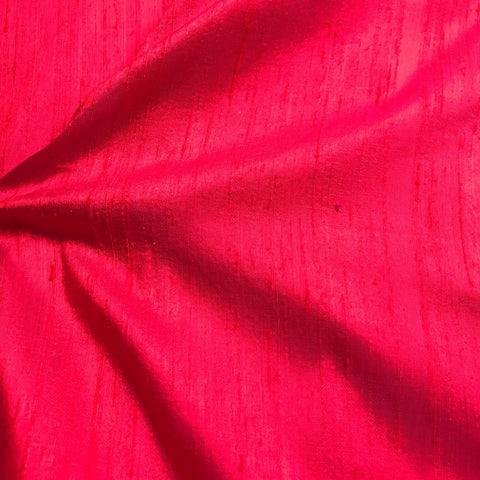 Two Tone Pink Plain Raw Silk Fabric