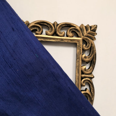 Royal Blue Plain Raw Silk Fabric