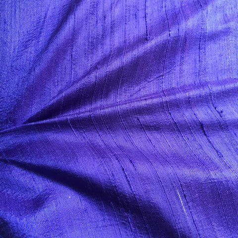 Dark Purple Plain Raw Silk Fabric